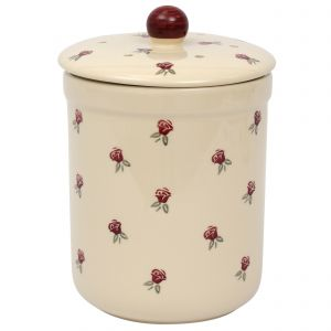 Haselbury Ceramic Compost Caddy / Food Waste Bin - 3L - Rose Design - Main Image