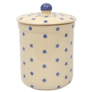 Haselbury Ceramic Compost Caddy / Food Waste Bin - 3L - Star Design -Main Image