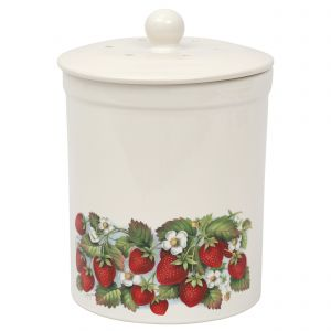 Ashmore Ceramic Compost Caddy /  food Bin 3L - Strawberry Design - Main