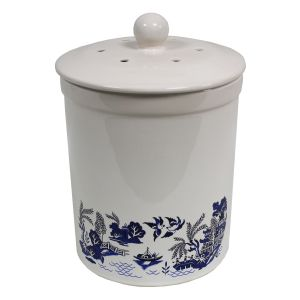 Ashmore Ceramic Compost Caddy - Blue Willow Pattern