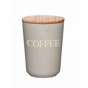 Natural Elements Eco-Friendly Bamboo Fibre Coffee Canister