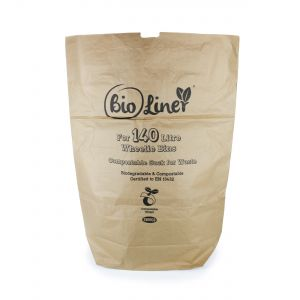 140L BioLiner Eco Sack Paper Compostable Bin Liners (Small Wheelie Bins)