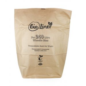 240L BioLiner Eco Sack Paper Compostable Bin Liners (Large Wheelie Bins)