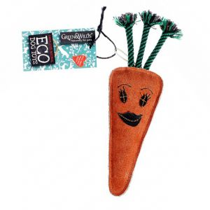 Green & Wilds Eco Dog Toy - Candice the Carrot