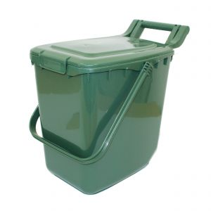 Clip Lid - Large Kerbside Compost Caddy - 23L - Green