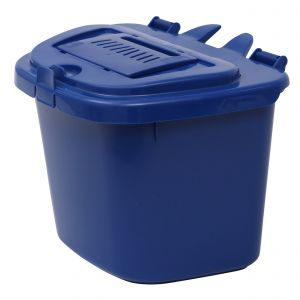 Blue Vented Compost Caddy - 5 Litre - Food Bin - side