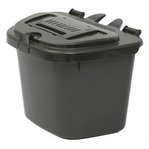 Vented Compost Caddy - Dark Grey 5 Litre Food Bin - Side