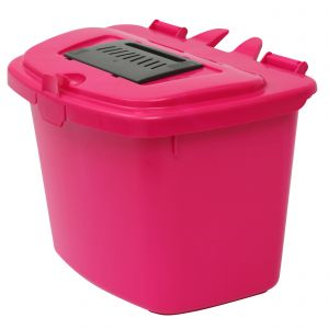 7 Litre - Hot Pink Vented Compost Caddy - Food Bin - side image