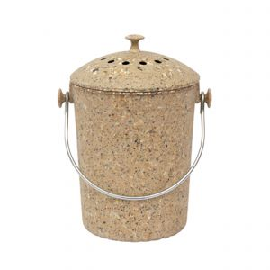 Brown Eco Natural Fibre Compost Pail
