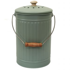 Sage Green 7L Metal Compost Pail