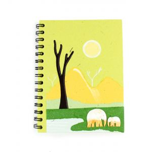 Elecosy: Large Spiral Notebook - Two Elephants Design