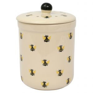 Haselbury Ceramic Compost Caddy / Food Waste Bin - 3L - Honey Bee Design - Main Image