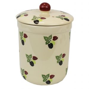 Haselbury Ceramic Compost Caddy - Bramble Berry