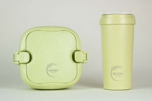Huski Home - 500ml Travel Cup & Multi-Component Lunch Box - Pistachio Green