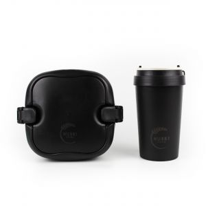 Huski Home - 400ml Travel Cup & Multi-Component Lunch Box - Obsidian Black
