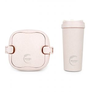 Huski Home - 500ml Travel Cup & Multi-Component Lunch Box - Rose Pink