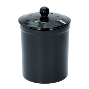 Melbury Ceramic Compost Caddy - Black