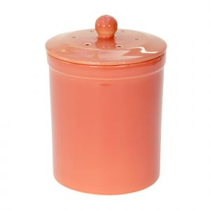 Melbury Ceramic Compost Caddy - Orange/Salmon Red