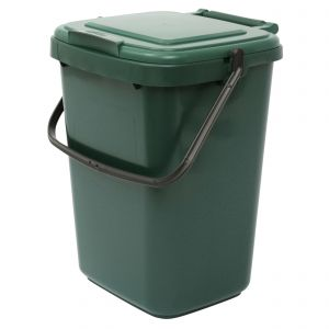 Straight 10 Litre Green Compost Caddy / Large Food Bin - Side