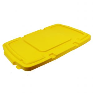 Yellow Coral Hard Plastic Lid for Outdoor Recycling Boxes