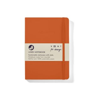 VENT: ReLeather and Sustainable Paper A5 Make a Mark Notebook (Orange)