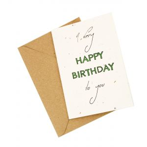 'A Very Happy Birthday To You' - Wildflower Plantable Card