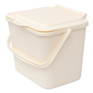 Cream Small 5 Litre Plastic Food Bin/Caddy - Side View