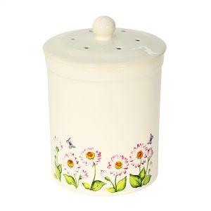 Ashmore Ceramic Compost Caddy - Daisy