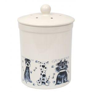 Ashmore Ceramic Compost Caddy / Food Bin Scruffy Dogs Design 3L - Main Image