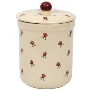 Haselbury Ceramic Compost Caddy / Food Waste Bin - 3L - Rose Design - Main Image