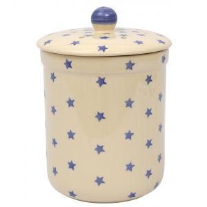 Haselbury Ceramic Compost Caddy / Food Waste Bin - 3L - Star Design -Main Image