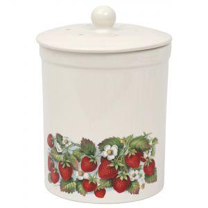 Ashmore Ceramic Compost Caddy /  food Bin 3L - Strawberry Design - Main