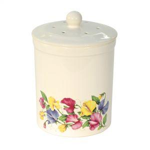 Ashmore Ceramic Compost Caddy - Sweet Pea