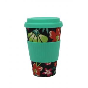 Addis Bamboo Reusable Travel Mug - Floral