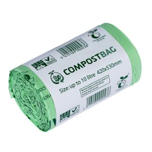 10L Compost Bag Wave Tie-Top Compostable Kitchen Caddy Liners (Large)