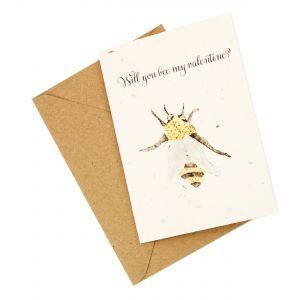 """Bee"" My Valentine - Wildflower Plantable Card"