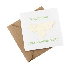 Father's Day - Bee's Knees - Wildflower Plantable Card