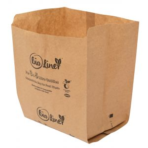 3 & 5L Bioliner Paper Compostable Caddy Liners (Small)