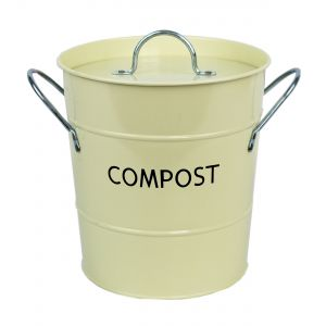 Buttercream Metal Compost Pail