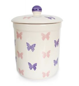 Haselbury 3L Ceramic Compost Caddy/Food Bin - Butterfly
