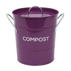 Purple Metal Compost Pail