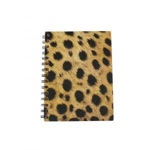 Large Spiral Notebook –  Cheetah Print Design