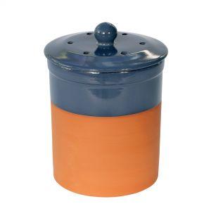 Chetnole Terracotta Compost Caddy - Blue