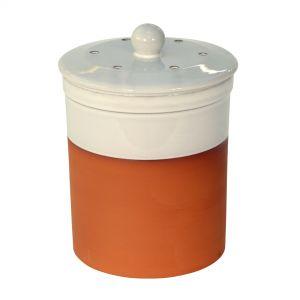 Chetnole Terracotta Compost Caddy - White
