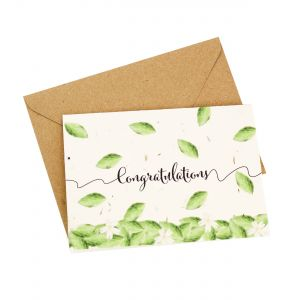 Congratulations- Wildflower Plantable Card