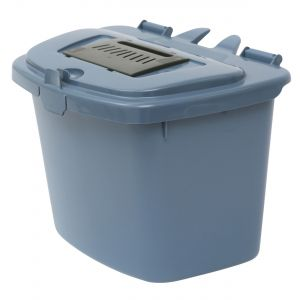 Pigeon Blue Vented Compost Caddy - 7 Litre - Food Bin - side view