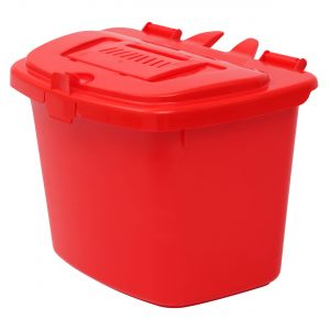 Vented Red Compost Caddy - 7 Litre - Food Bin - side