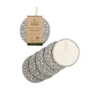 Organic Cotton Facial Pads (Pack of 5) - Meadow Grey