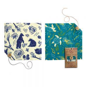 Bee's Wrap Food Covers - Set of 2 - Wildlife Pack