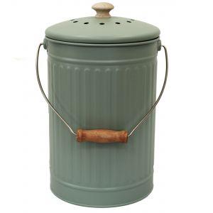 Sage Green 7L Metal Compost Pail